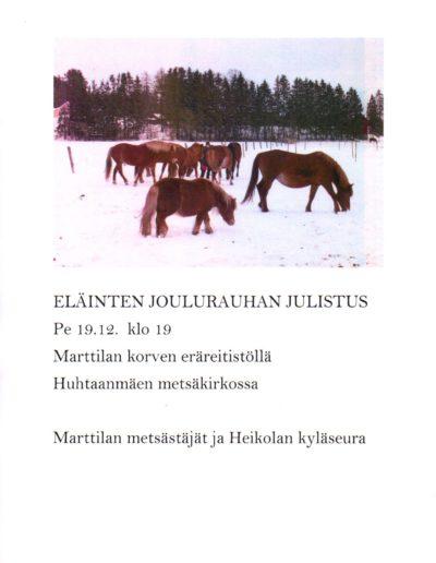 eläinten joulurauha 2014