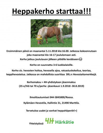 Heppakerho 2018 Kylämäki